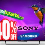 এশিয়া কাপ উপলক্ষ্যে 40% ডিসকাউন্ট Sony Bravia, Samsung led