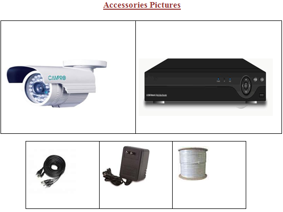 8 pcs Camera CCTV with DVR price in Bangladesh
