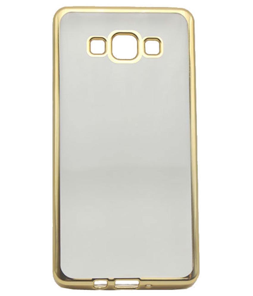 sports shoes be355 14648 Samsung Galaxy J7 Back Cover Chrome TPU Hard (Gold, Balack White)