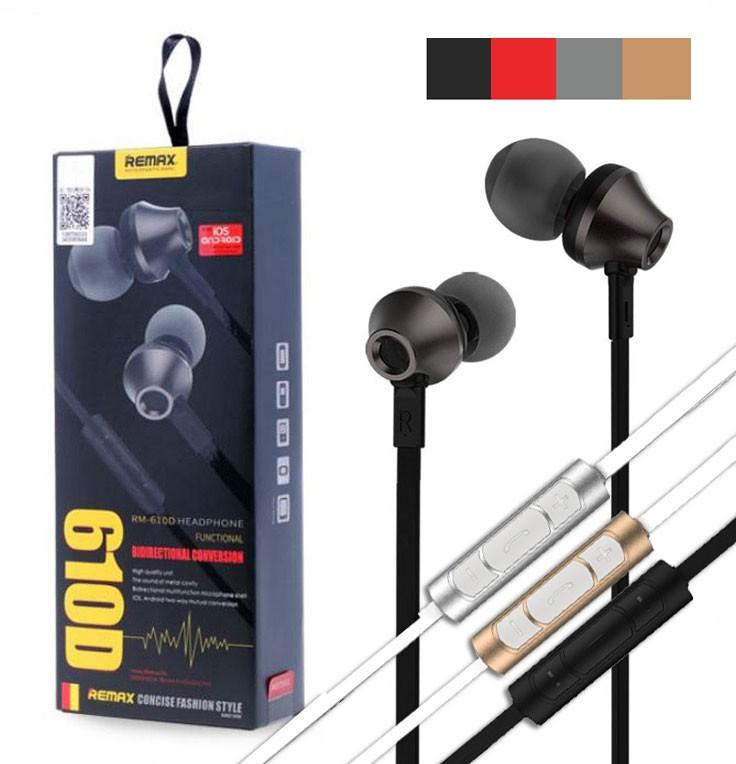 REMAX RM-610D Wired Earphone With Mic and Controller