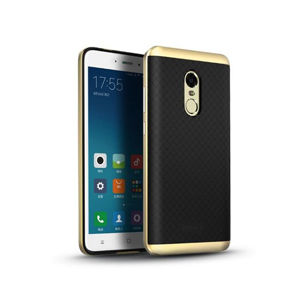 designer fashion 00639 ef757 Ipaky Back Cover Case For Xiaomi Redmi Note 4 (MTK) -Gold