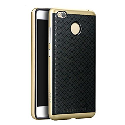 premium selection d469c 3c40a Ipaky Back Cover Case For Xiaomi Redmi 3s/3s prime-Gold