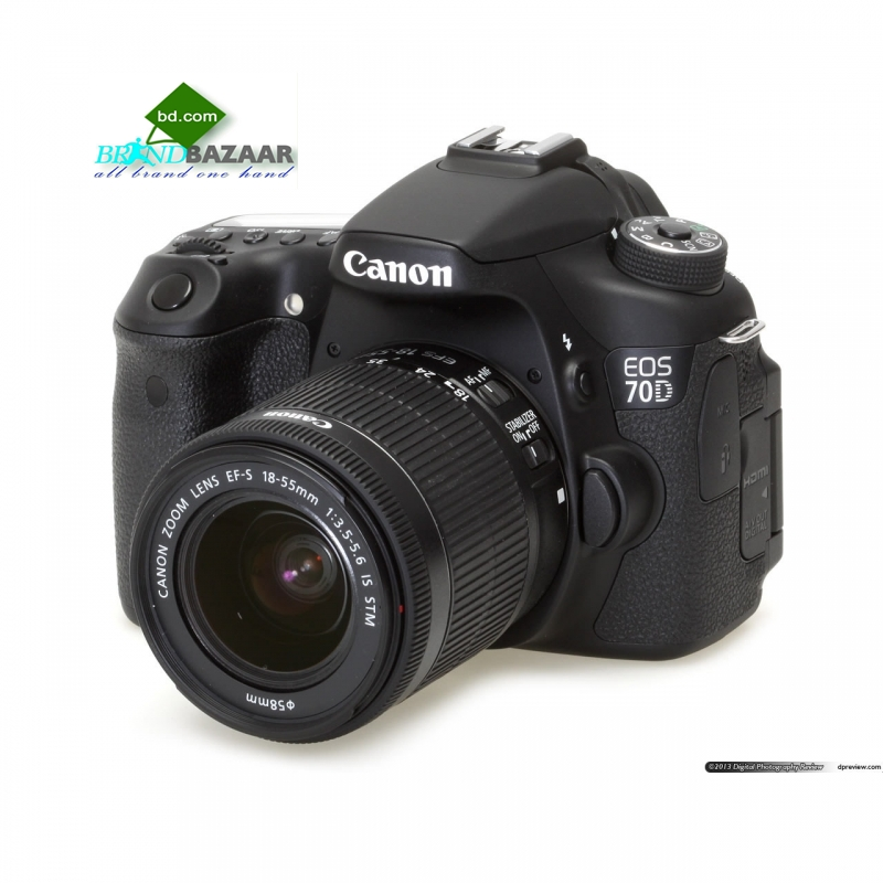 Canon EOS 70D DSLR Camera with 18-135mm Lens