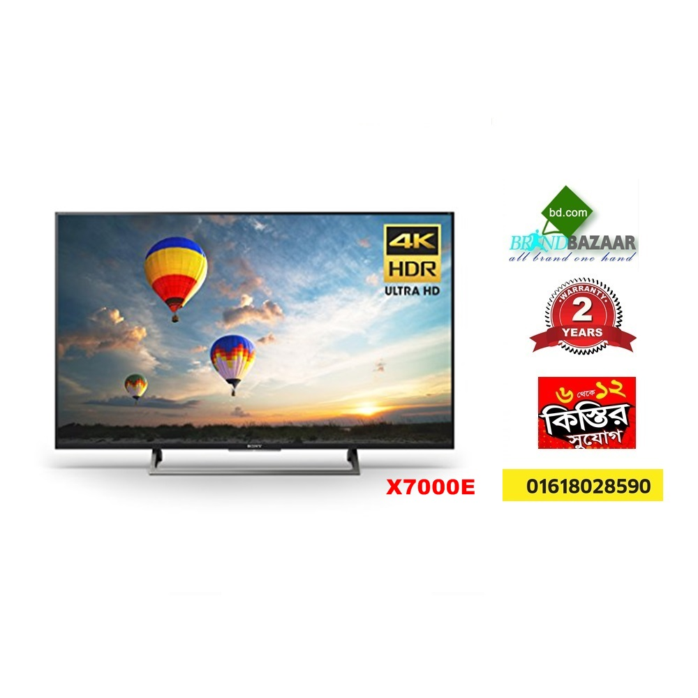"Sony KD43X7000E 43"" 4K UHD Smart LED TV"