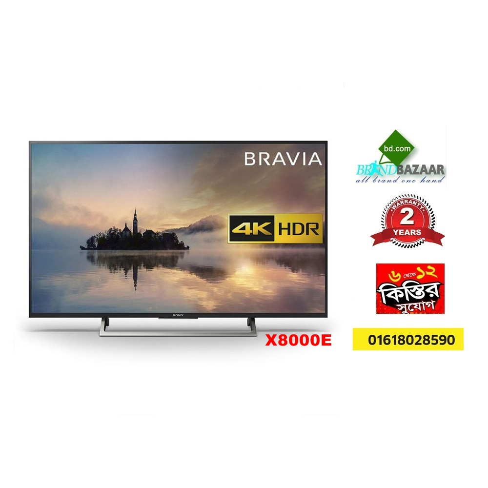 Sony 4K Smart 43 inch X8000E Slim LED TV