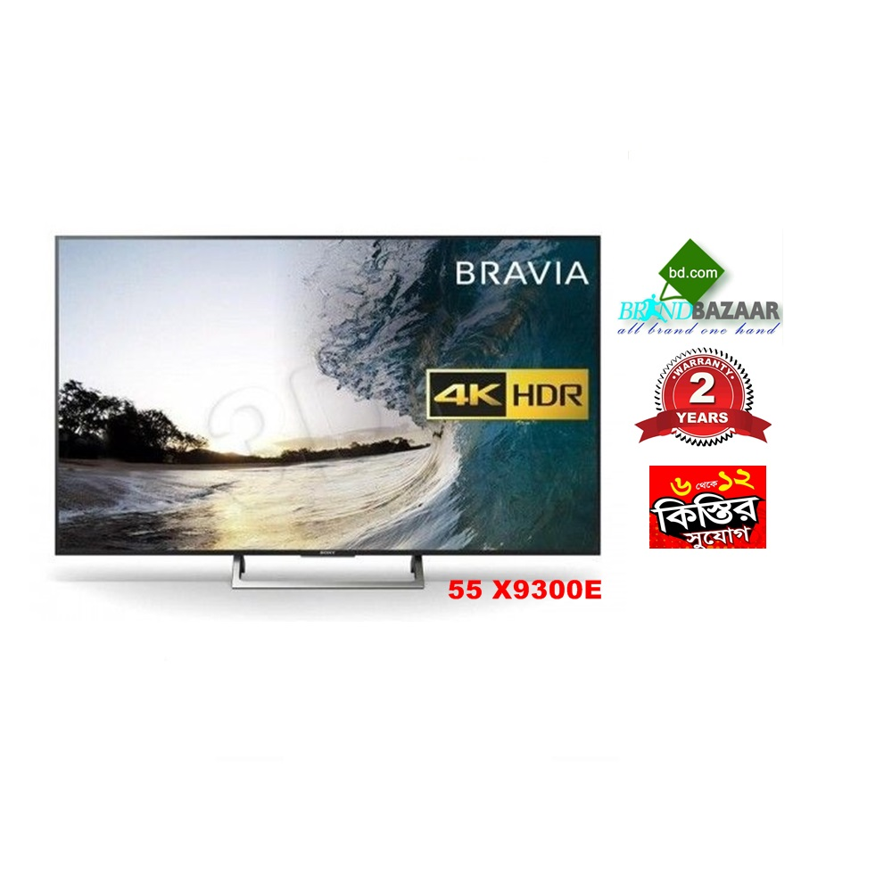 "55"" Sony Bravia 4K Ulta Slim TV Price in Bangladesh : 55"" X9300E"