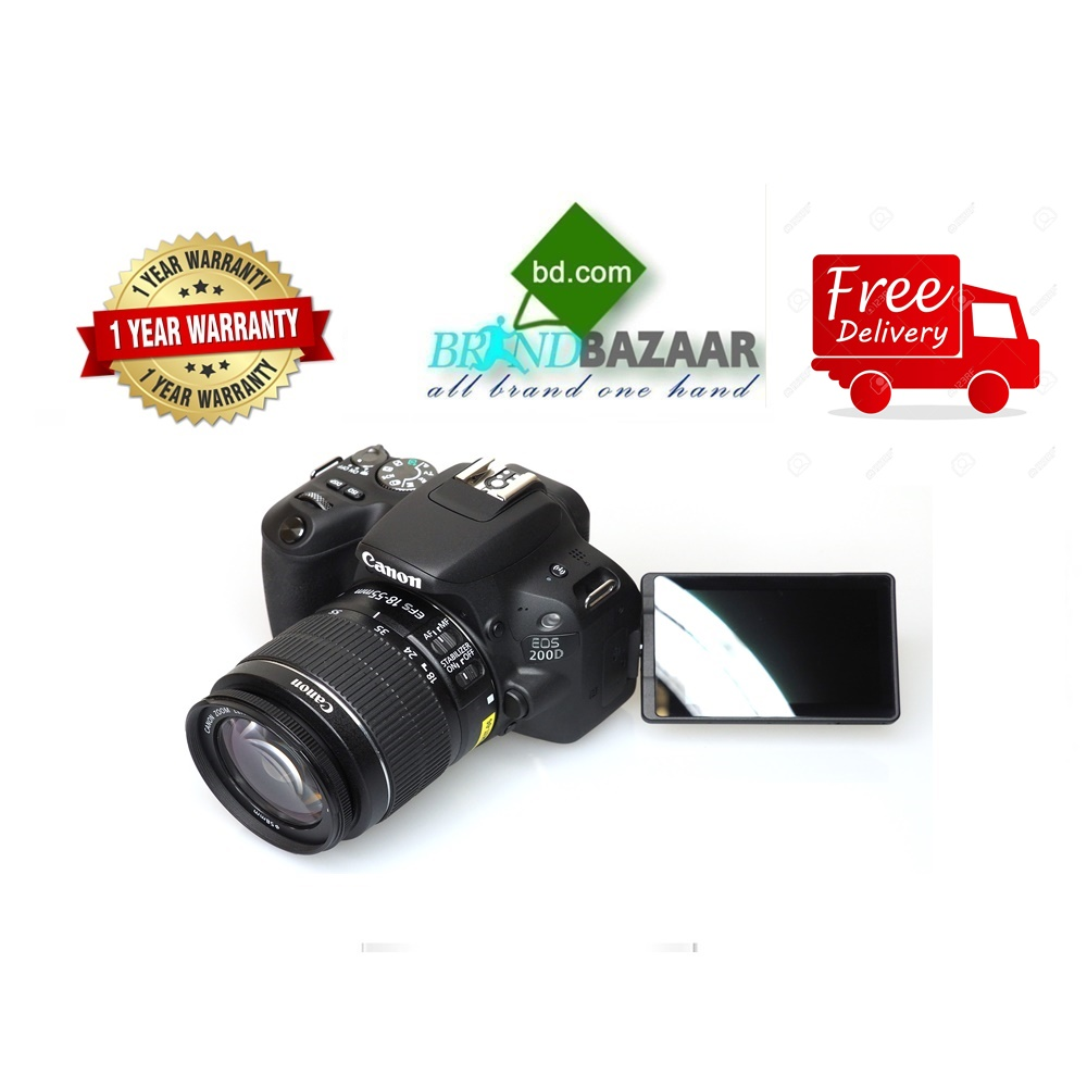 Canon DSLR Camera Price in Bangladesh | Canon EOS 200D 18-55mm Lens
