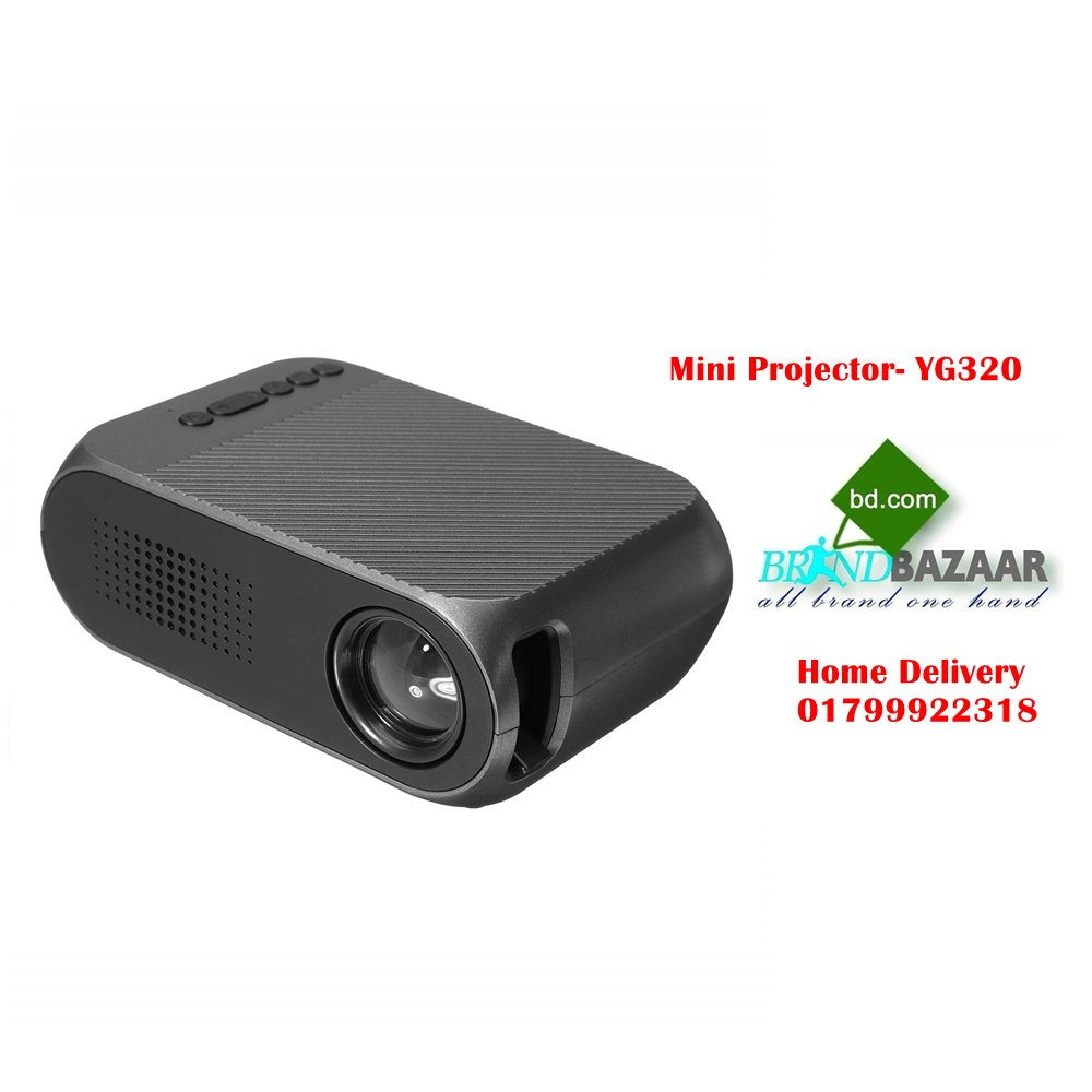 YG320 High Definition 1080P Portable Mini LED Projector With Speaker Home Use KX