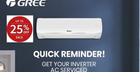 Gree এসিতে বিশাল ডিসকাউন্ট   Gree Inverter AC Price in Bangladesh