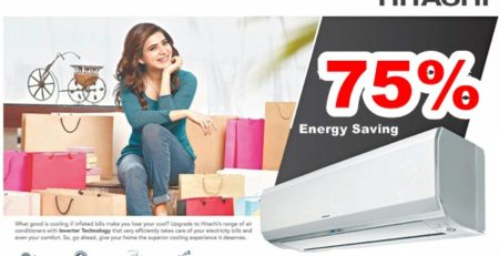 Hitachi ইনভার্টার এসি 75% পর্যন্ত বিদ্যুৎ সাশ্রয়ি